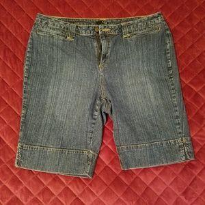 A.N.A. Denim Bermuda Shorts, size 18W